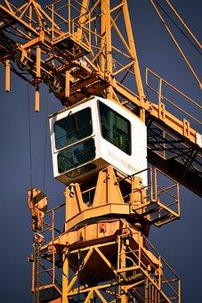 Baukran, Site, Crane, Construction Work, Technology