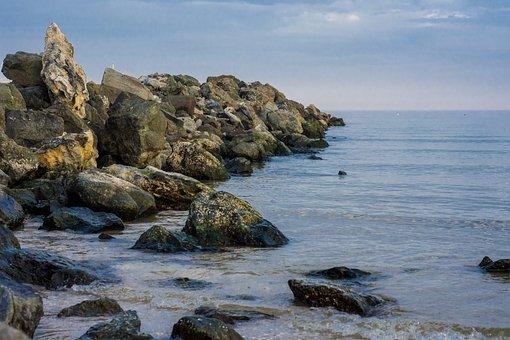 Winter, Beach, Bulgaria, Primorsko, Vacation, Sea
