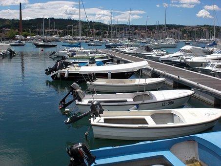 Sea, Port, Ships, Boats, Water, Holiday