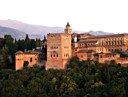 Alhambra, Granada, Spain, Architecture, Andalusia