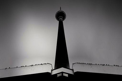 Berlin, Tower, Tv Tower, Radio Tower, Architecture