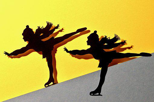 Silhouette, Skater, Art, Contour, Shadow Play