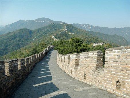 Great Wall Of China, China, Beijing, Wall, Stone