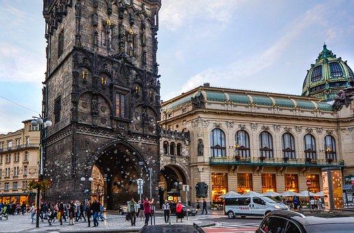 Prague, Czech, Republic, Tower, City, Tourism, Old
