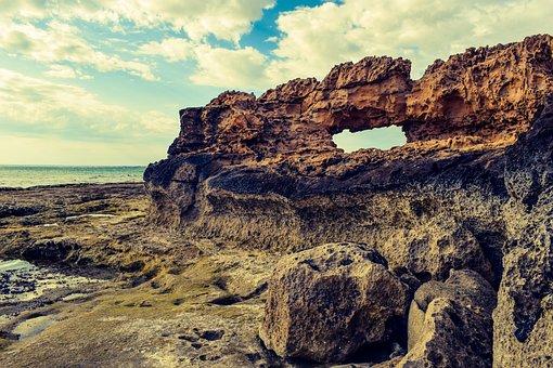 Rock, Formation, Coast, Scenery, Window, Erosion