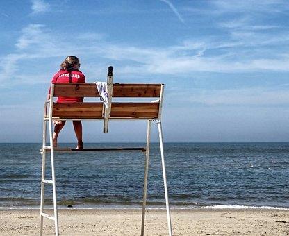 Coast Guard, Lifeguard, Beach Guard, Beach, Sea, Coast