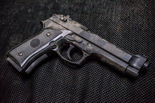 Guns, Gun, Metal, Black, Pistole, Weapons, Dust, Danger