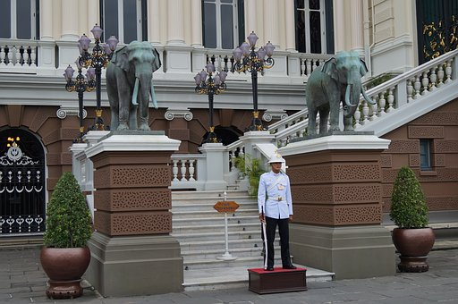 Elephants, Thailand, Sculpture, Museum