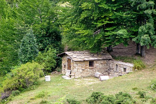Candle House, Rustico, Forest, Stone, Casa Antica