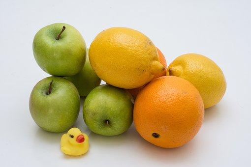 Lemon, Orange, Apple, Food, Fruit, Fresh, Citrus