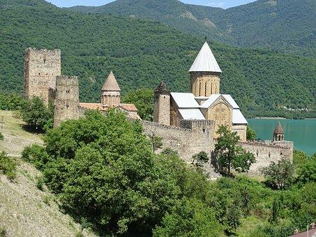 Georgia, Fortress, Ananuri, Georgian Military Road