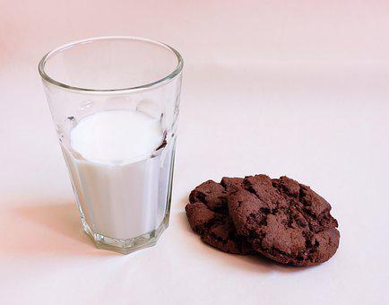 Food, Cookies, Milk, Glass Of Milk