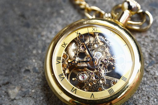 Clock, Pocket Watch, Gold, Time, Valuable, Movement