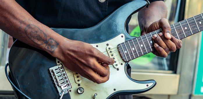 Hands, Guitar, Black