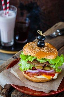 Hamburger, Burger, Café, Lunch, Nutrition, Tasty