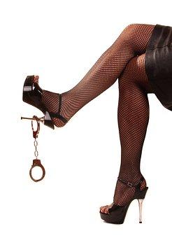 Legs, Handcuffs, High Heels, Web, Fetish, Pantyhose