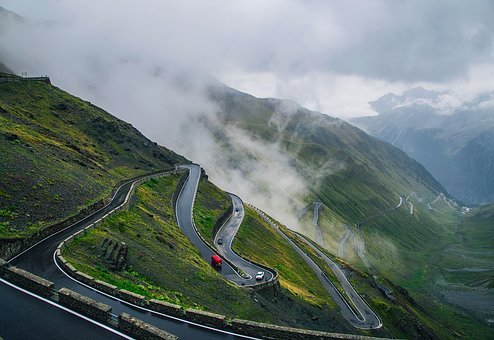 Italy, Road, Highway, Twisting, Winding, Sunrise