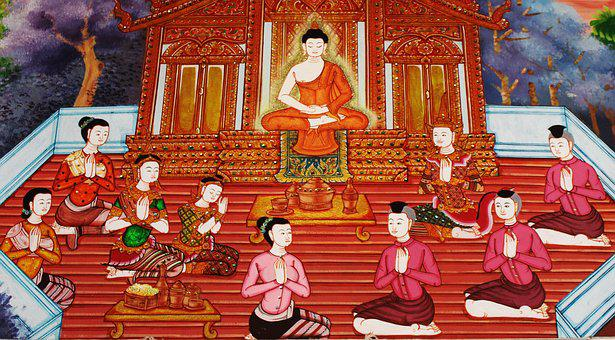 Buddha, Devotees, Worship, Buddhist, Holy, Temple