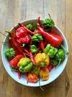 Spicy Peppers, Habanero, Red Scorpion, Hot Pepper