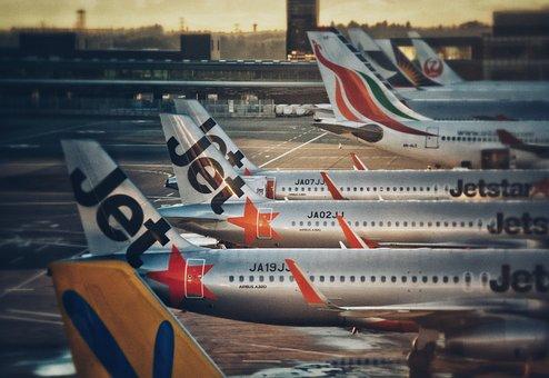 Airport, Plane, Jetstar, Jet, Airbus, Tarmac, Sunset