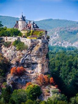 Périgord, Perigeaux, Castle, Landscape, Nature