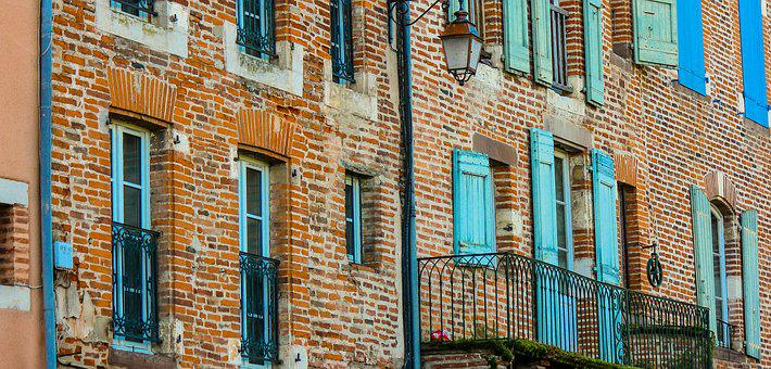 Albi, France, Brick, Windows, Facade, Old, Old Town