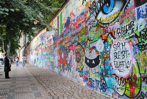 John Lennon Wall, Prague, Places Of Interest