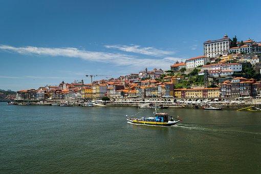 Porto, Portugal, Europe, Historic City, Boat, Sky