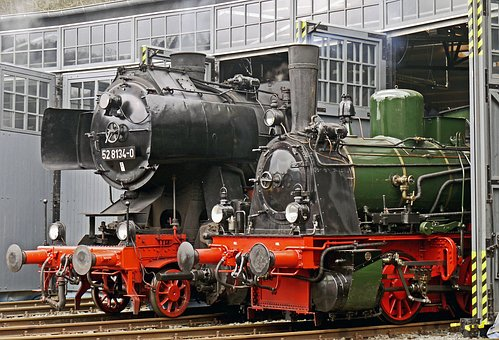 Steam Locomotives, Locomotive Shed, Ready For Use, T3