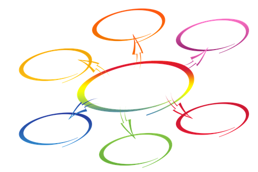 Network, Round, Hand, Write, Circle, Rings, Businessmen