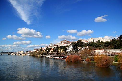 Coimbra, Mondego, Portugal, City, Rio, Landfill