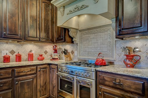 Kitchen Interior, Stove, Interior, Kitchen, Home