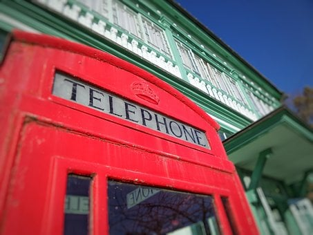 Telephone, Booth, Public, Britain, Red, Box, Phone