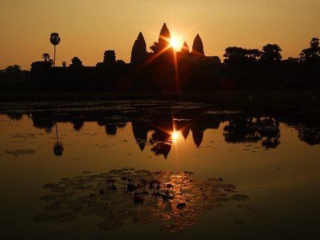 Angkor Wat, Kambotscha, Dawn, Temple, Complex, Cambodia
