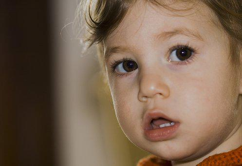 Face, Little Girl, Portrait, Bimba, Teeth, Mouth, Eyes