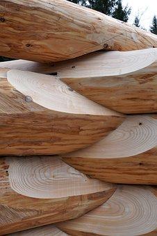 Block House, Build, Wood, Tribe, Tree, Round Stem