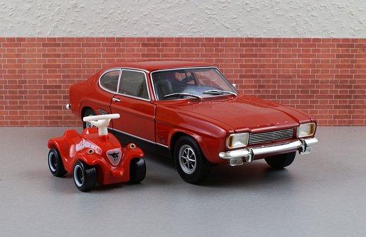 Model Car, Ford, Ford Capri, Capri, Bobby Car, Model