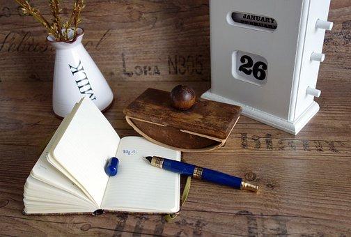 Vintage, Shabby, Old, Calendar, Filler, Ink, Eraser