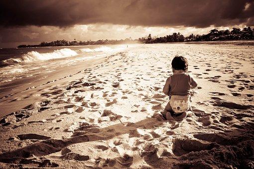 Beach, Sunset, Children, Child, Son, Cottage, Bahia