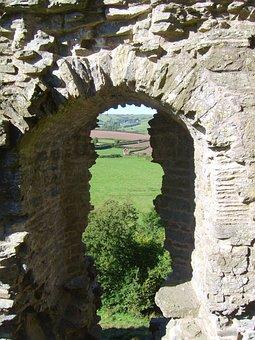 Castle, Ruins, Clun, Clun Castle, Shropshire