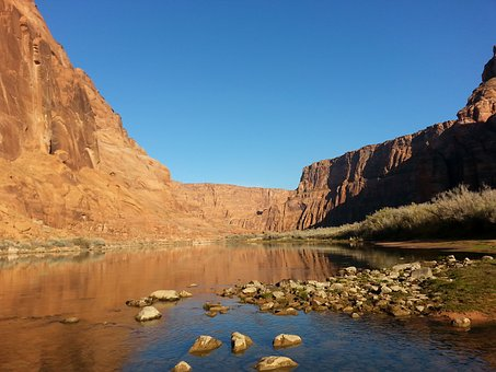 Lee's, Ferry, Below, Glen, Canyon, Dam