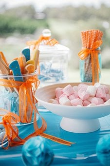 Cake, Party, Blue, Garden, Park, Kids, Children