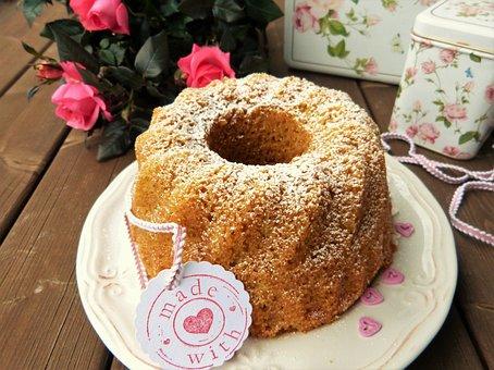 Cake, Guglhupf, Bowl Cake, Birthday, Bake, Roses, Pink