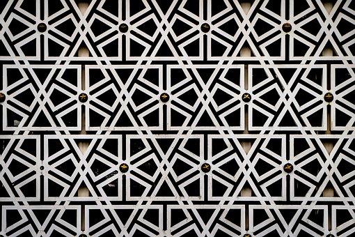 Arabesque, Pattern, Islamic, Geometric, Line, Mosque