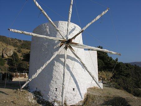 Greek Island, Karpathos, Wind Mill, Mill, Nature