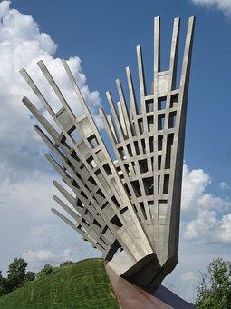 Wings, Monument, Architecture, Symbol, Metal, Politics