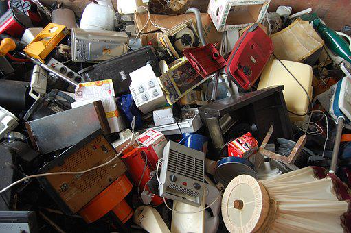 E Waste, Lamps, Old, Garbage, Throw Away, Lampshade