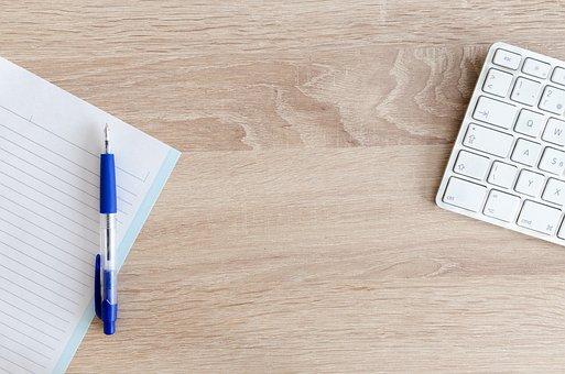 Výpočetní, úřadě, Tabulkový, Klávesnice, Dřevo, Práce
