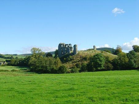 Clun Castle, Clun, Castle, Ruins, Shropshire