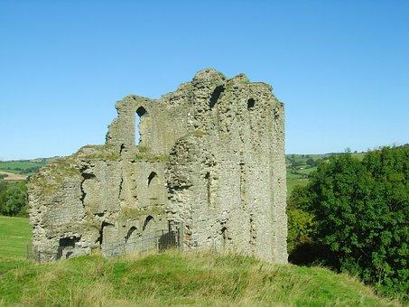 Clun Castle, Castle, Ruins, Clun, Shropshire